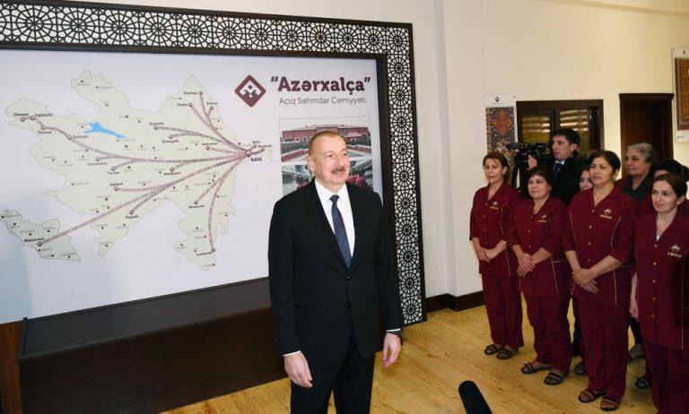 Prezident İlham Əliyev: Azərbaycan xalçalarına dünyada çox böyük tələbat var