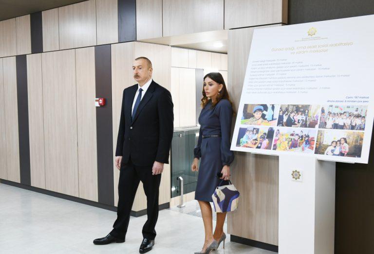 Prezident İlham Əliyev və birinci xanım Mehriban Əliyeva 3 saylı DOST mərkəzinin açılışında iştirak ediblər. FOTOLAR