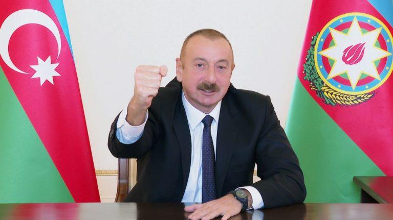 Prezident İlham Əliyev: Füzuli şəhəri və rayonun bir neçə kəndi işğalçılardan azad edilib