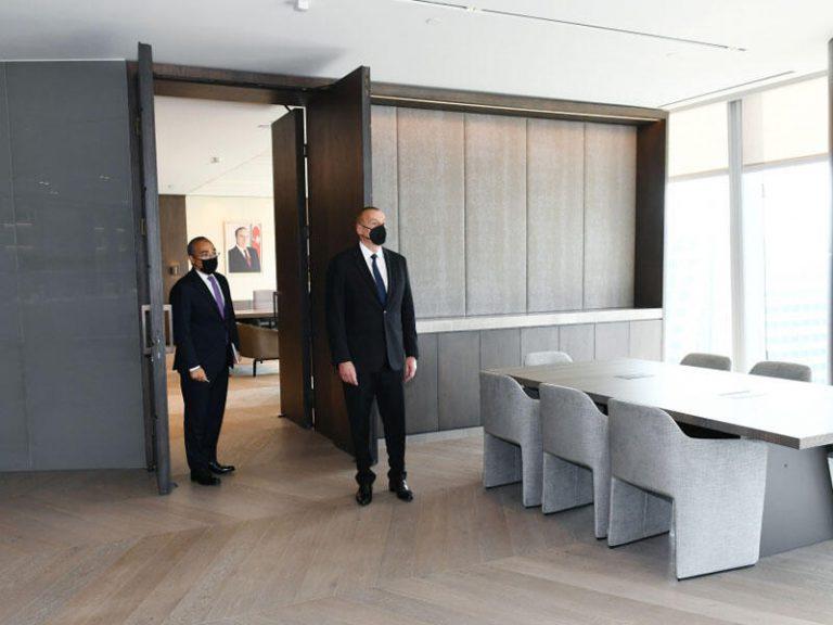 Prezident İlham Əliyev İqtisadiyyat Nazirliyinin yeni binasının açılışında iştirak edib – VIDEO – FOTO