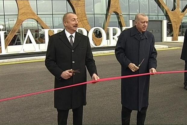 İlham Əliyev və Ərdoğan Füzuli hava limanının açılışını etdi – YENİLƏNİB + VİDEO