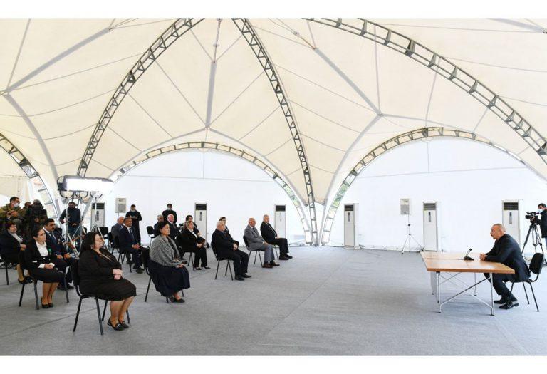 Prezident İlham Əliyev Xocavənd rayon ictimaiyyətinin nümayəndələri ilə görüşüb